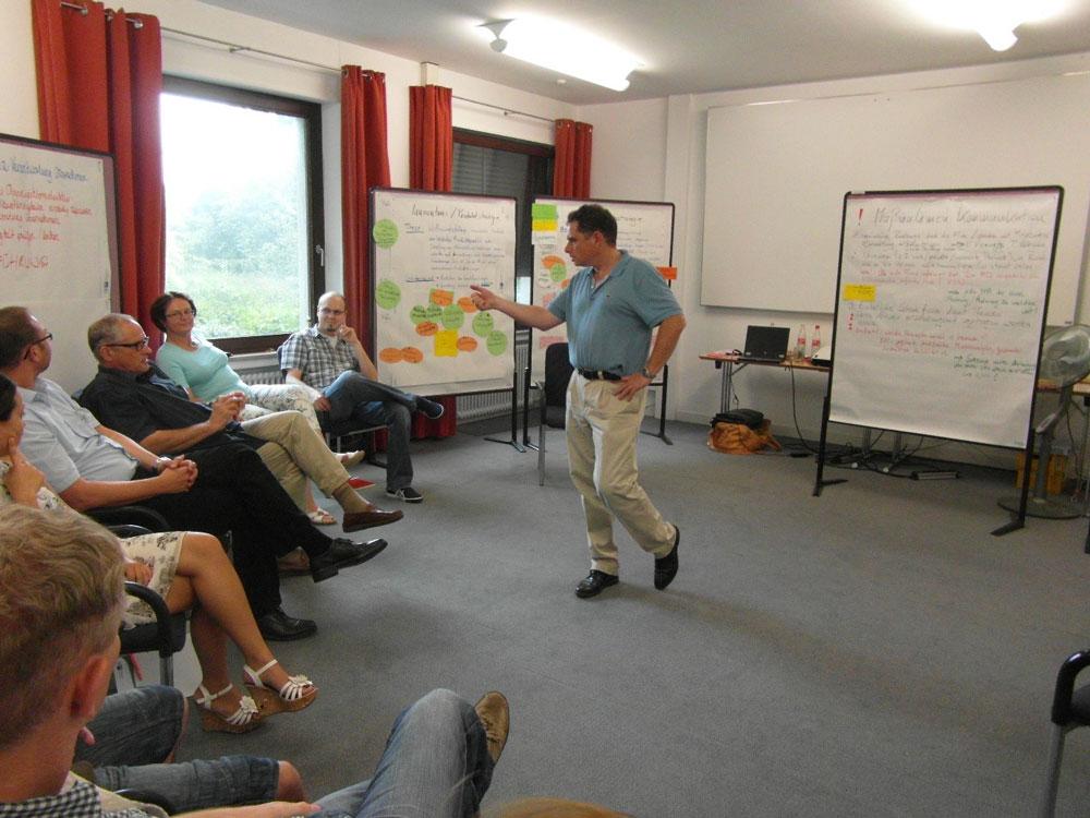 Workshop: konzentrierte Teamarbeit an der Pinwand