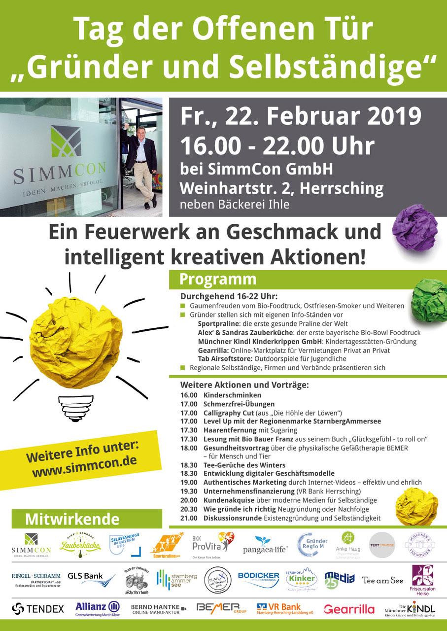 Plakat Tag der offenen Tür - 22.2.2019 in Herrsching